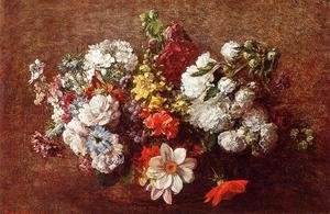 Ignace Henri Jean Fantin-Latour - Bouquet of Flowers