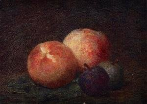 Ignace Henri Jean Fantin-Latour - Two Peaches and Two Plums