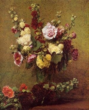 Ignace Henri Jean Fantin-Latour - Holly-hocks