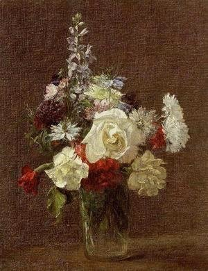 Ignace Henri Jean Fantin-Latour - Mixed Flowers