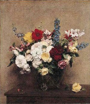 Ignace Henri Jean Fantin-Latour - The Rosy Wealth of June