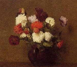 Ignace Henri Jean Fantin-Latour - Flowers: Poppies