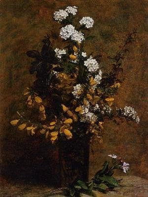 Ignace Henri Jean Fantin-Latour - Broom and Other Spring Flowers in a Vase