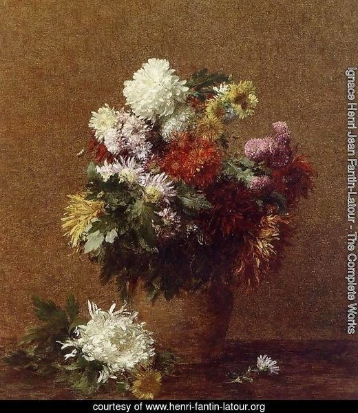 Large Bouquet of Chrysanthemums