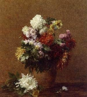 Ignace Henri Jean Fantin-Latour - Large Bouquet of Chrysanthemums