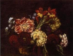 Ignace Henri Jean Fantin-Latour - Flowers: Dahlias and Gladiolas