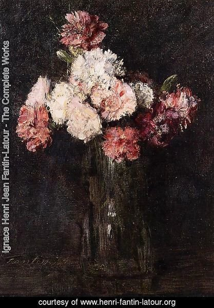 Carnations in a Champagne Glass