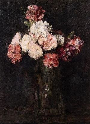 Ignace Henri Jean Fantin-Latour - Carnations in a Champagne Glass