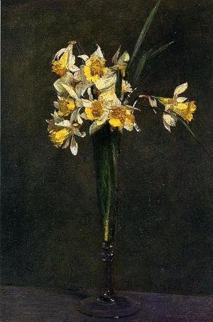 Ignace Henri Jean Fantin-Latour - Yellow Flowers (or Coucous)