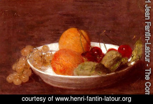 Ignace Henri Jean Fantin-Latour - A Bowl Of Fruit