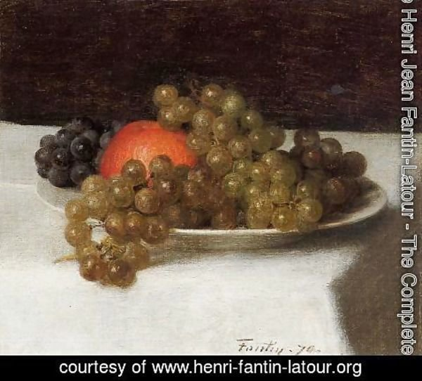 Ignace Henri Jean Fantin-Latour - Apples and Grapes