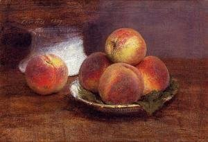 Ignace Henri Jean Fantin-Latour - Bowl of Peaches