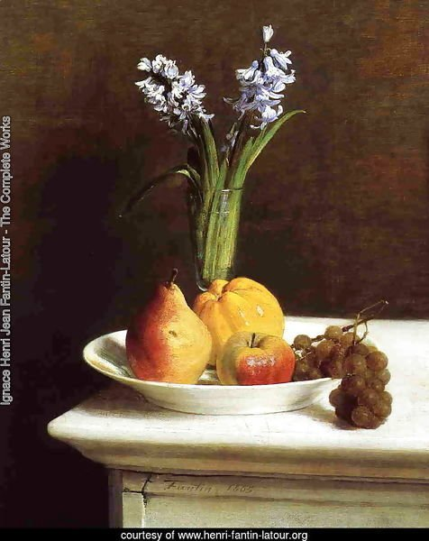Still Life: Hyacinths and Fruit