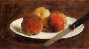 Ignace Henri Jean Fantin-Latour - Plate of Peaches