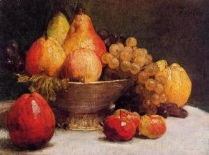 Ignace Henri Jean Fantin-Latour - Bowl of Fruit