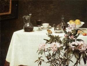 Ignace Henri Jean Fantin-Latour - Still Life: Corner Of A Table