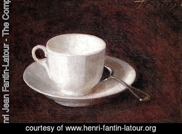 Ignace Henri Jean Fantin-Latour - White Cup And Saucer