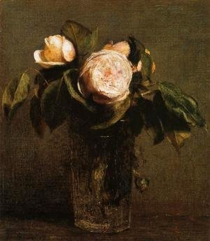 Ignace Henri Jean Fantin-Latour - Roses in a Tall Glass