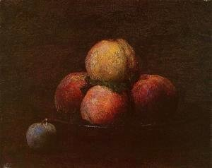 Ignace Henri Jean Fantin-Latour - Peaches and a Plum