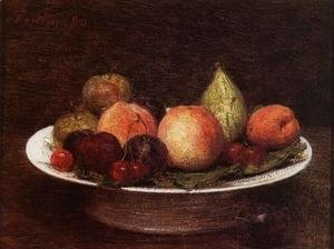 Ignace Henri Jean Fantin-Latour - Plate of Fruit