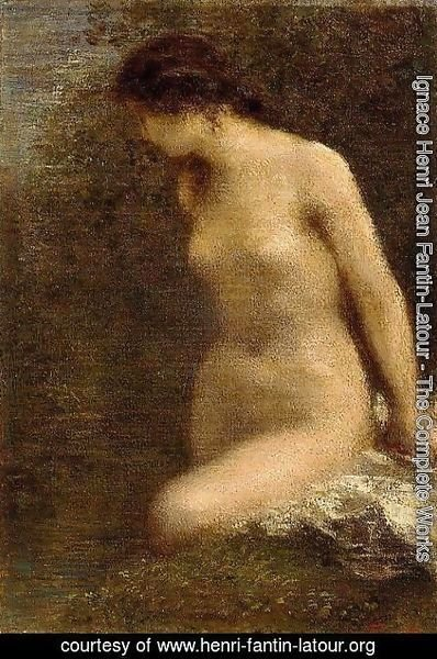 Ignace Henri Jean Fantin-Latour - Small Brunette Bather