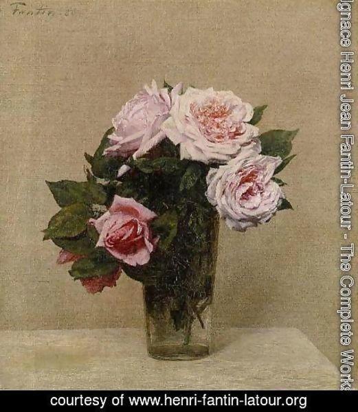 Ignace Henri Jean Fantin Latour The Complete Works Roses Roses Henri Fantin Latour Org
