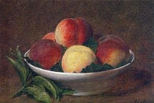 Ignace Henri Jean Fantin-Latour - Peaches in a Bowl