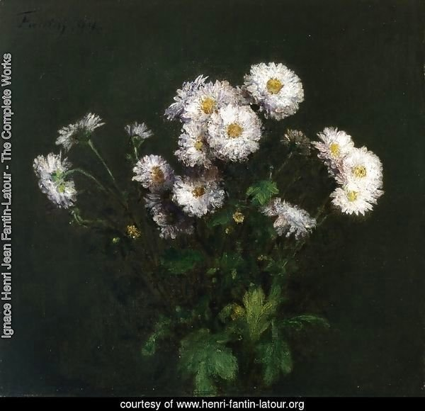 Bouquet of White Chrysanthemums