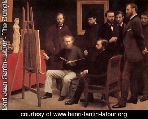 Ignace Henri Jean Fantin-Latour - A Studio in the Batignolles