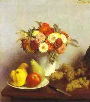 Ignace Henri Jean Fantin-Latour - Flowers and Fruit 2