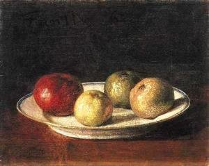 Ignace Henri Jean Fantin-Latour - A Plate of Apples