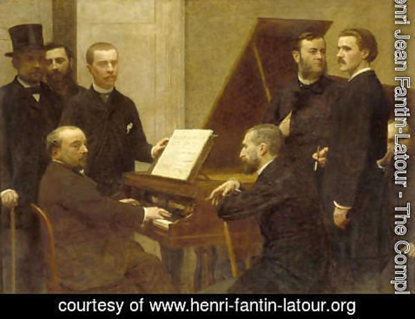 Ignace Henri Jean Fantin-Latour - Around the piano