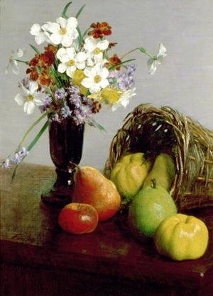 Ignace Henri Jean Fantin-Latour - Fruits and Flowers 1866