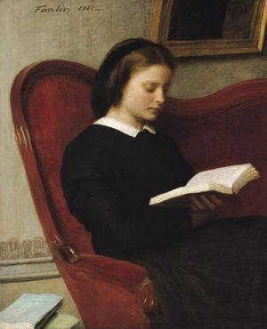 Ignace Henri Jean Fantin-Latour - The Reader 1861
