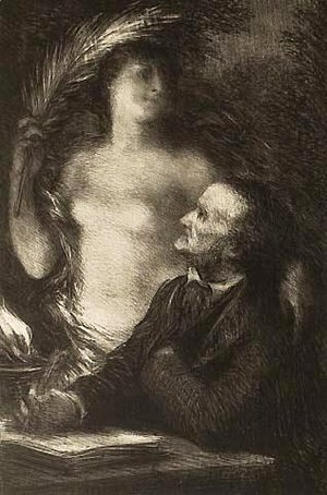 Ignace Henri Jean Fantin-Latour - The Muse (Richard Wagner)
