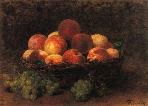 Ignace Henri Jean Fantin-Latour - Basket of Peaches