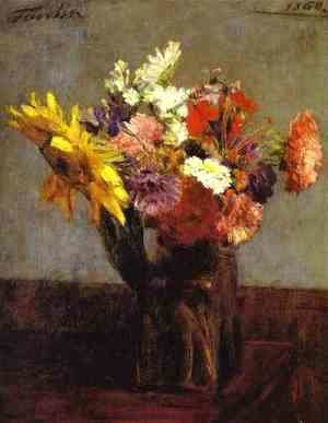 Ignace Henri Jean Fantin-Latour - Bouquet of Flowers 2