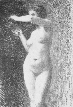 Ignace Henri Jean Fantin-Latour - Study for Eve