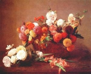 Ignace Henri Jean Fantin-Latour - The Flowers of Middle Summer