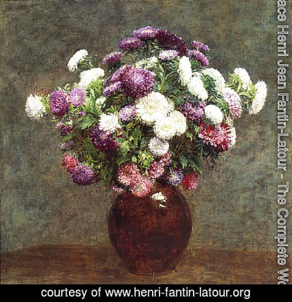 Ignace Henri Jean Fantin-Latour - Asters in a Vase