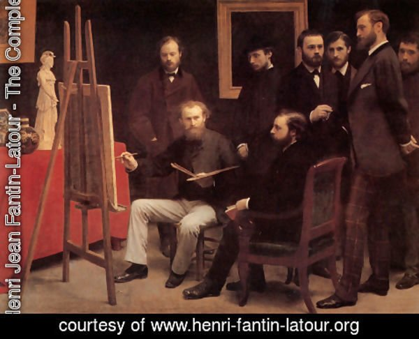 Ignace Henri Jean Fantin-Latour - An Atelier in the Batignolles 1870