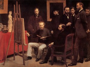 An Atelier in the Batignolles 1870