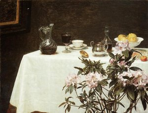Ignace Henri Jean Fantin-Latour - Still Life- The Corner of a Table 1873
