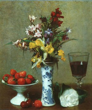 Ignace Henri Jean Fantin-Latour - Still Life- The Engagement 1869