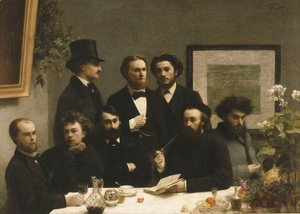 Ignace Henri Jean Fantin-Latour - The Corner of the Table 1872